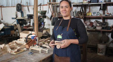 Emprendedora de Temuco rescata tradición de juguetes de madera