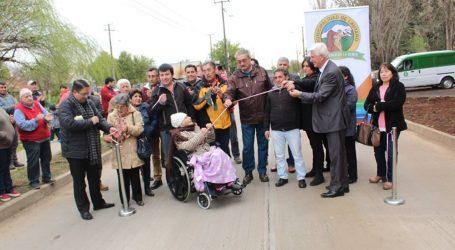 Inauguran calle Brasil en Lautaro