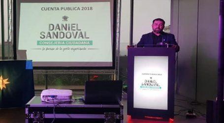 Core Daniel Sandoval rinde cuenta pública