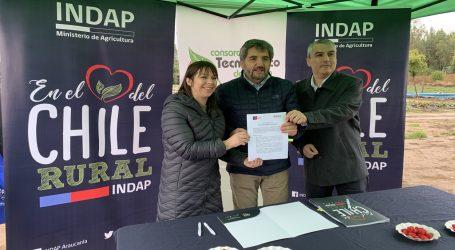 INDAP  y Consorcio Tecnológico de la Fruta de ASOEX firman acuerdo para impulsar a los productores de La Araucanía