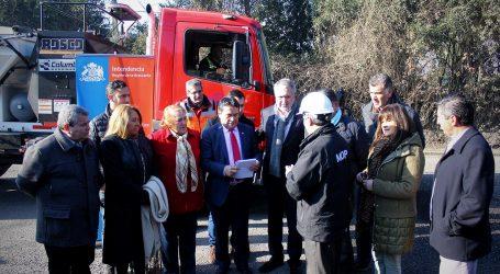Gobierno Regional entrega camiones al Mop para atender la red vial de La Araucanía