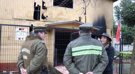 Autoridades de Gobierno lamentan incendio que afectó a dependencias de Indap en Ercilla