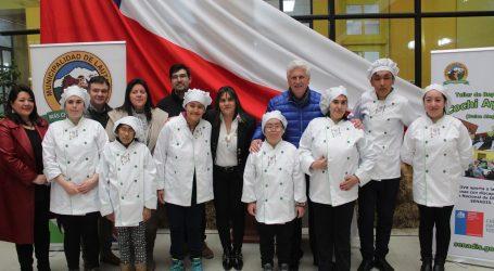 Estudiantes en situación de discapacidad de Lautaro inauguran taller de chocolatería