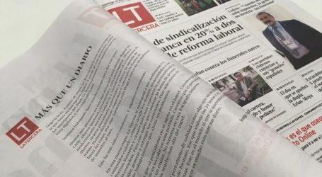 Diario La Tercera dejará de ofrecer suscripciones impresas de lunes a viernes