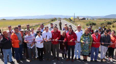 Entregan obras de pavimentación del camino Toltén – La Barra