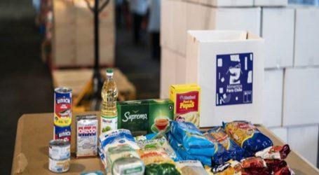 """Más de 7.500 cajas de la campaña """"Alimentos para Chile"""" se entregaron en Temuco este fin de semana"""