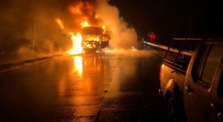 Niña de 9 años resulta herida tras la quema de un camión en Collipulli