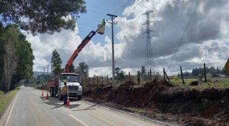 Frontel realiza importantes mejoramientos en la red eléctrica de Gorbea