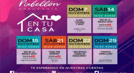 Rock en español, tradición y buena mesa se toman la cartelera de noviembre del Pabellón Araucanía