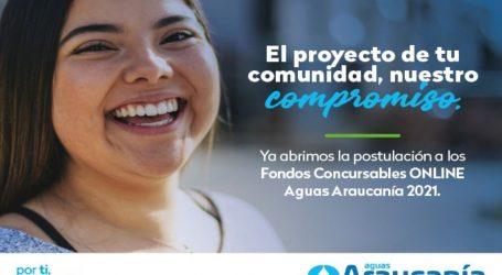 Fondo concursable de Aguas Araucanía será 100% online