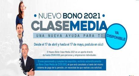 SII recibió más de 570 mil solicitudes al Bono Clase Media 2021 en solo dos horas