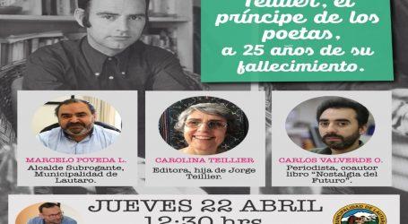 Daem de Lautaro homenajea al Poeta Teillier en los 25 años de su fallecimiento