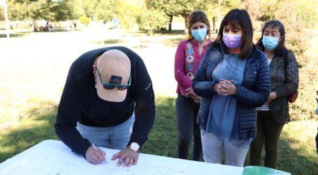 Vilcún: Entregan terrenos para mejoramiento de Plaza de San Patricio