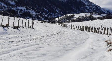 Lonquimay coordina despeje de caminos vecinales con acumulación de nieve